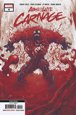 ABSOLUTE CARNAGE #4 (OF 5) 2ND PTG STEGMAN VARIANT 12/11/19 FOC 11/11/19