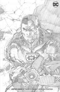 JUSTICE LEAGUE #5 JIM LEE PENCILS 1:100 VAR ED FOC 07/09