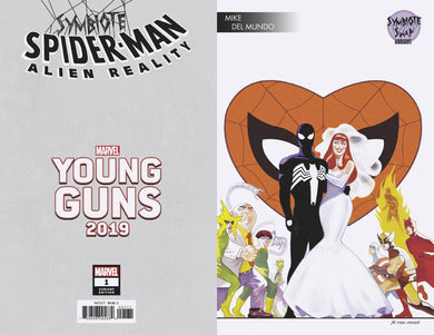 SYMBIOTE SPIDER-MAN ALIEN REALITY #1 DEL MUNDO YOUNG GUNS 12/11/19 FOC 11/11/19