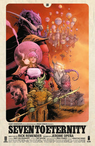 SEVEN TO ETERNITY #10 CVR A OPENA & HOLLINGSWORTH FOC 07/02 (ADVANCE ORDER)