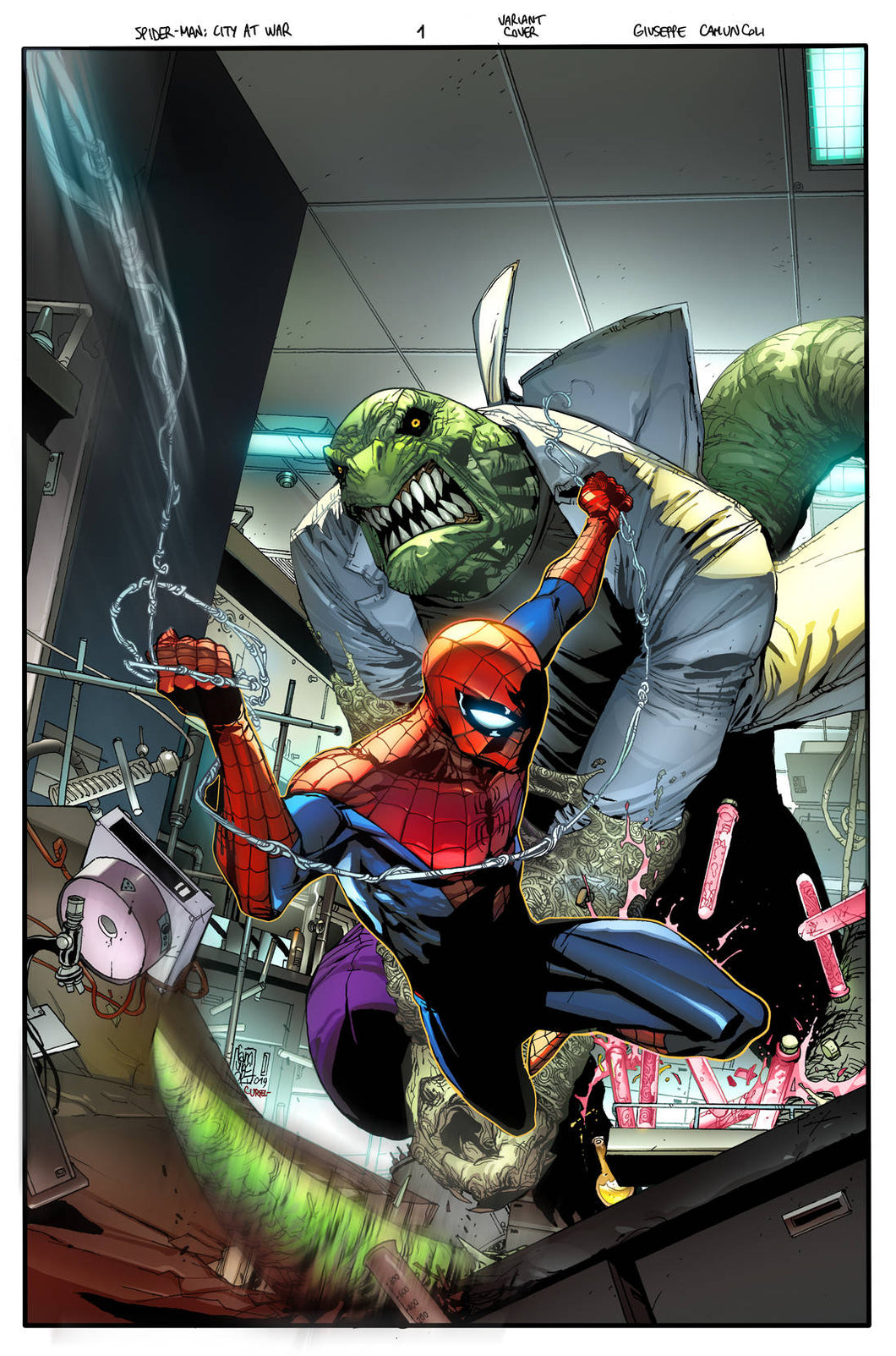 SPIDER-MAN CITY AT WAR #1 (OF 6) VILLAINS VARIANT 03/20/19 FOC 02/25/19