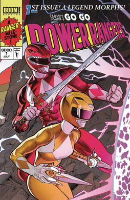 GO GO POWER RANGERS #1 MORA SDCC CONNECTING CVR B 01/09/19