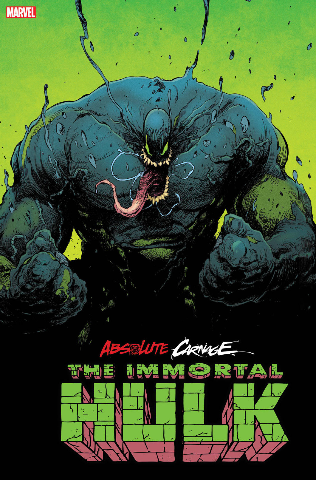 ABSOLUTE CARNAGE IMMORTAL HULK #1 2ND PTG ANDRADE VARIANT 11/13/19 FOC 10/14/19