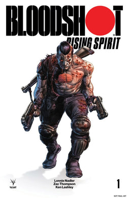 BLOODSHOT RISING SPIRIT #1 GLASS COVER E 1:250 BRAITHWAITE INCENTIVE VARIANT  FOC 10/22