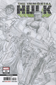 IMMORTAL HULK #26 2ND PTG ALEX ROSS VAR 01/08/20 FOC 12/09/19