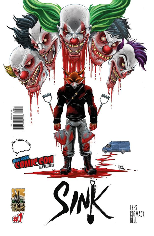 SINK #1 COVER B NEW YORK COMIC CON & BRAIN TRUST EXCLUSIVE