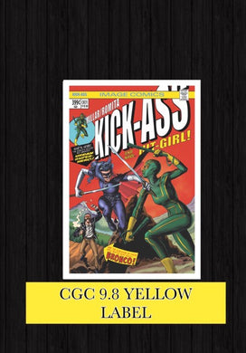 KICK-ASS #1 BIG TIME COLLECTIBLES EXCLUSIVE COVERS CGC 9.8 YELLOW LABEL SIGNED BY COVER ARTIST MIKE ROOTH