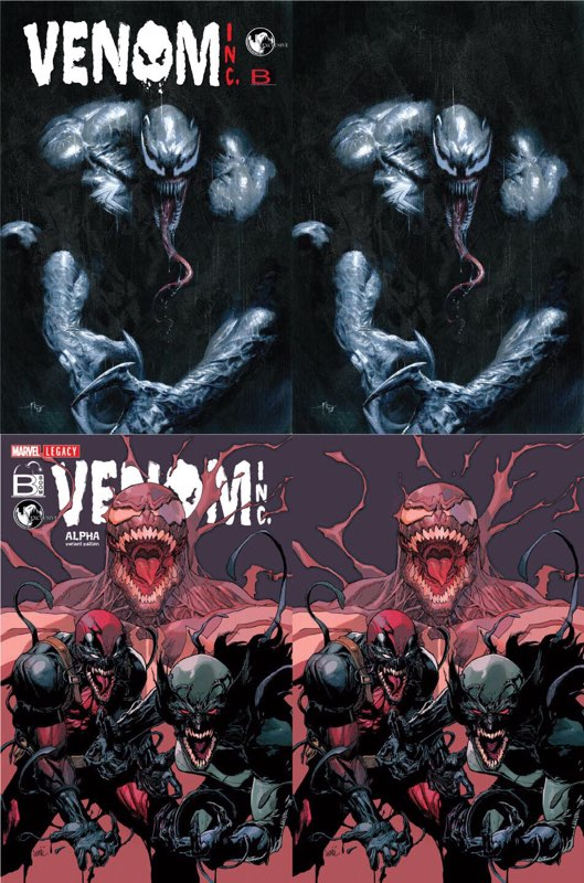 AMAZING SPIDER-MAN VENOM INC OMEGA DELLOTTO & YU EXCLUSIVE 4 PACK