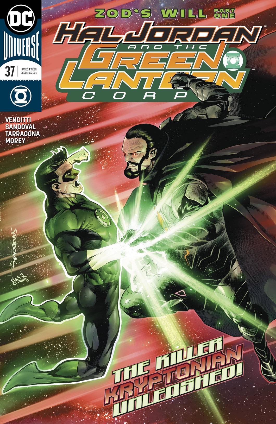 HAL JORDAN AND THE GREEN LANTERN CORPS #37  01/24/18 RD