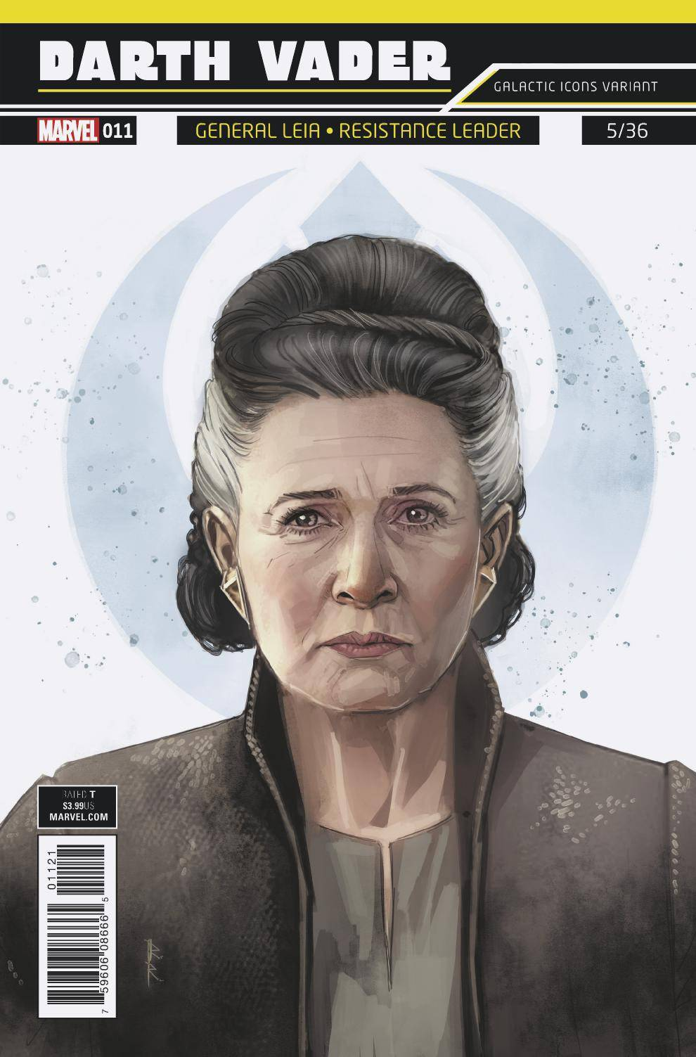 STAR WARS DARTH VADER #11 REIS GALACTIC ICON LEIA 02/14/18 RD
