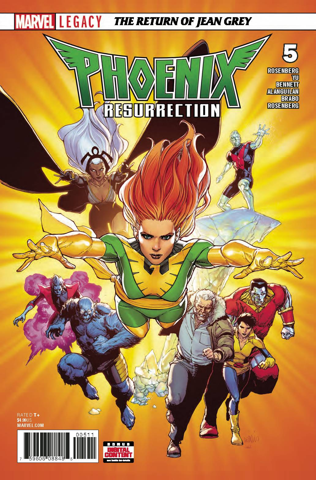 PHOENIX RESURRECTION RETURN JEAN GREY #5 (OF 5) LEG 01/31/18 RD