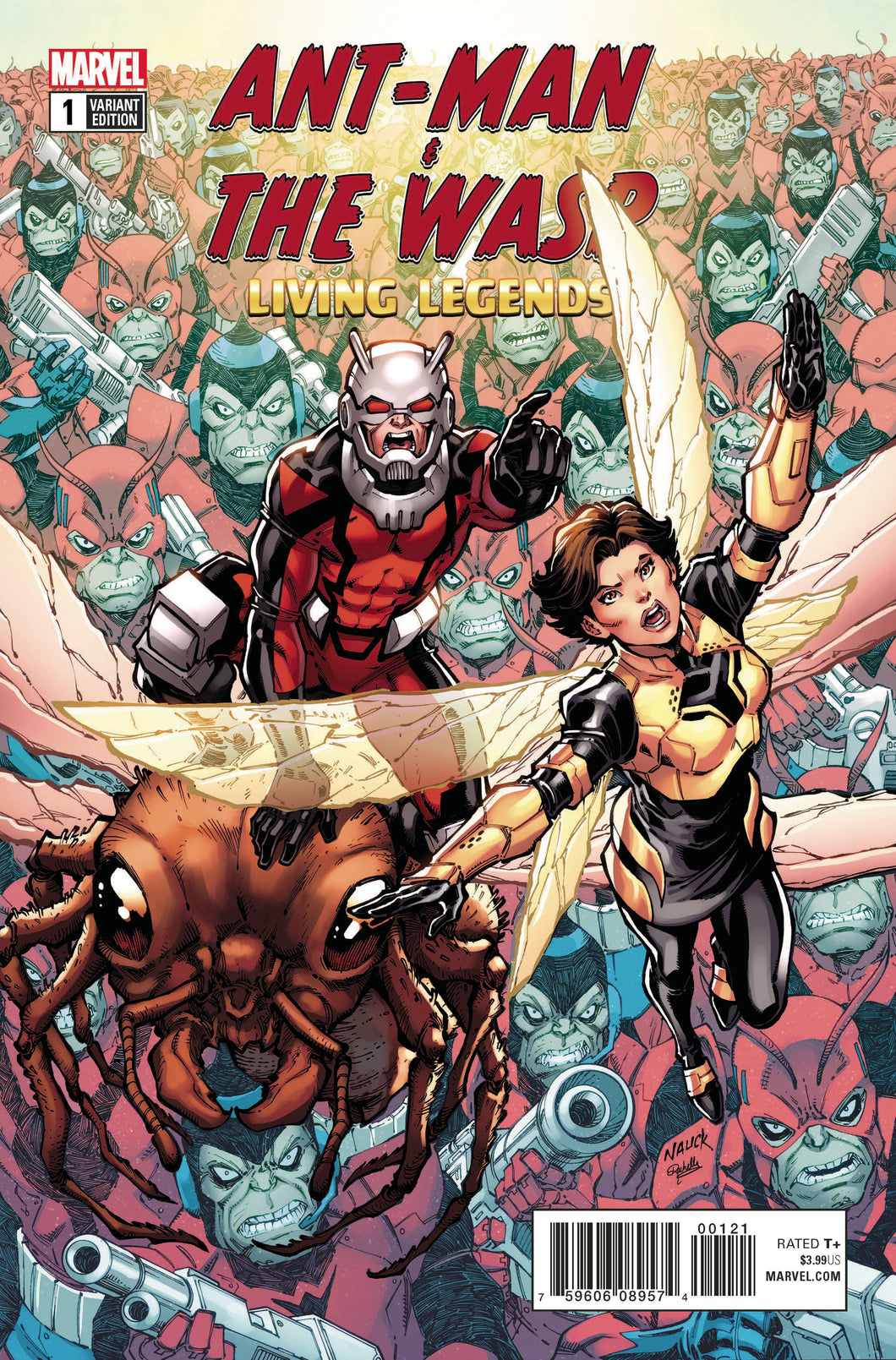 ANT-MAN AND WASP LIVING LEGENDS #1 NAUCK VARIANT 06/06