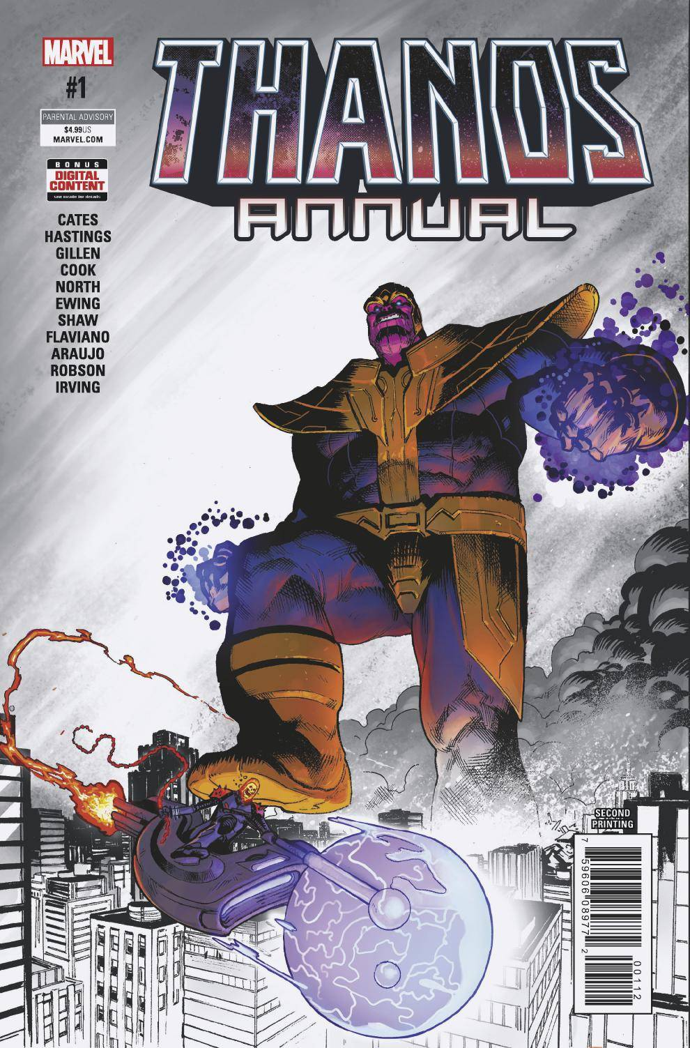 THANOS ANNUAL #1 SECOND PRINTING 06/06