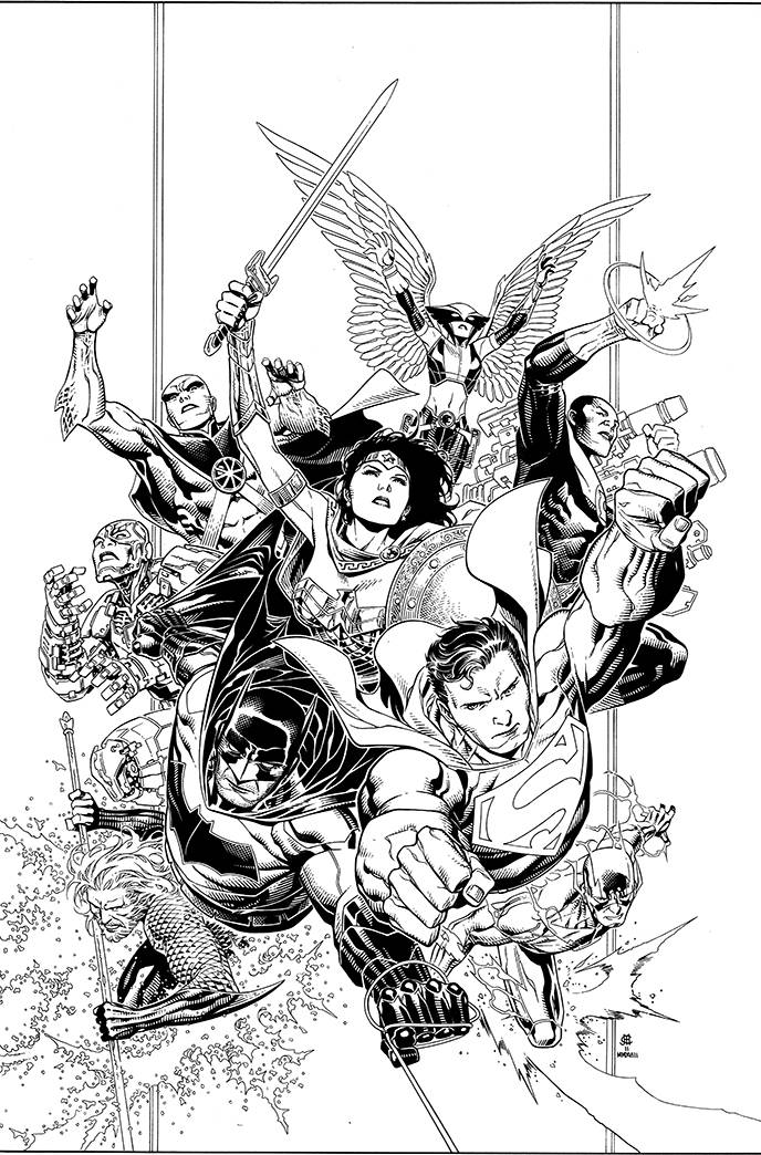 JUSTICE LEAGUE #1 JIM CHUENG INKS 1:100 INCENTIVE VARIANT FOC 05/14 (ADVANCE ORDER)