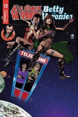 RED SONJA VAMPIRELLA BETTY VERONICA #12 CVR E STAGGS