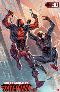 MILES MORALES SPIDER-MAN #25 LIEFELD DEADPOOL 30TH VARIANT 04/28/21