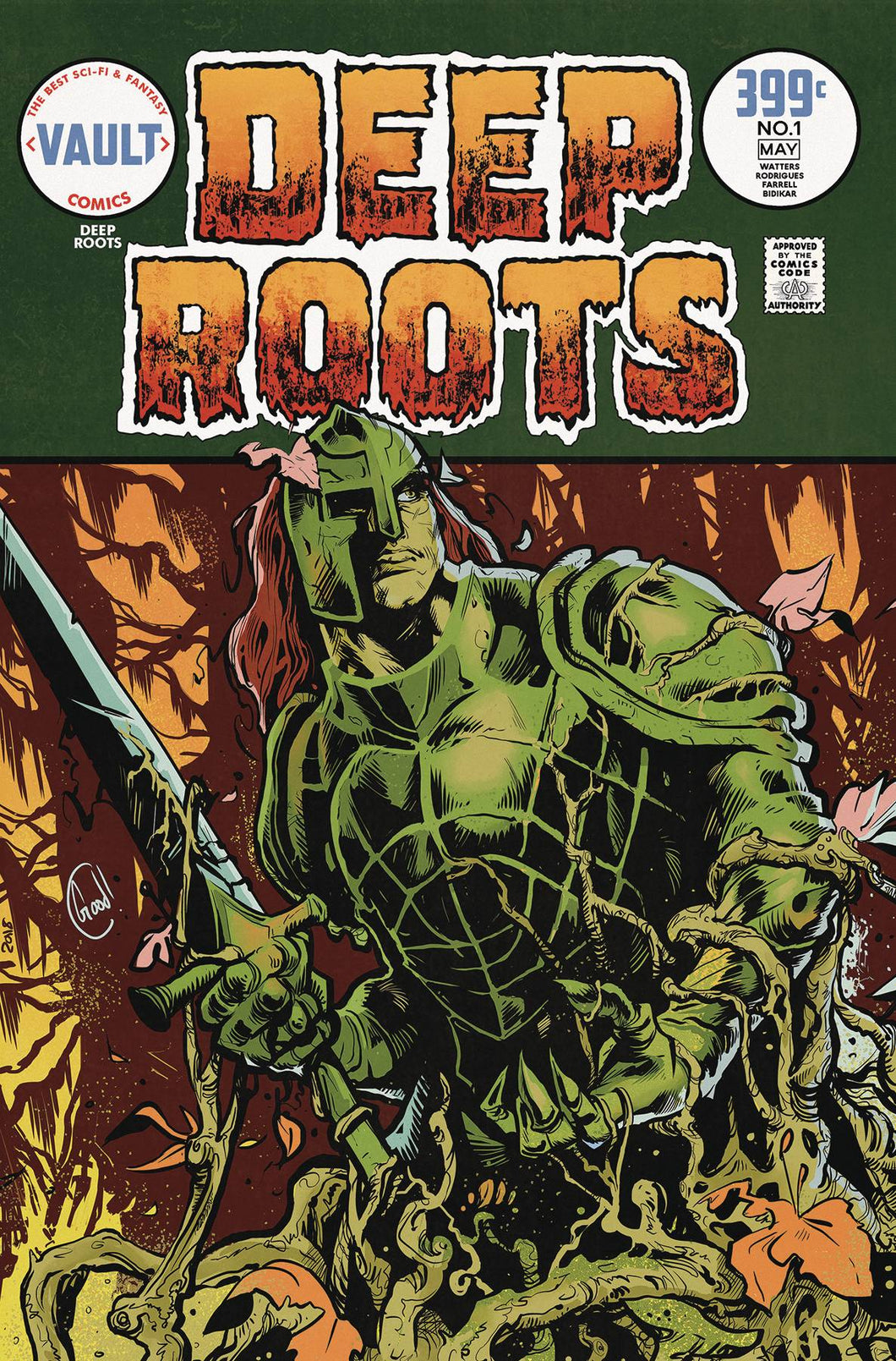 DEEP ROOTS #1 GOODEN VAR (2ND PTG) SWAMP THING #9 COVER SWIPE FOC 05/07 (ADVANCE ORDER)