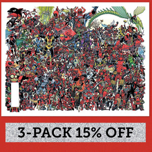 DESPICABLE DEADPOOL #300 KOBLISH 300 DEADPOOLS WRAPAROUND VARIANT BTC 3-PACK 15% OFF