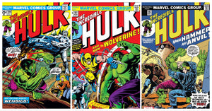 INCREDIBLE HULK #180 #181 & #182 WOLVERINE 1ST APPEARANCE SET FACSIMILE EDITION 03/25/20