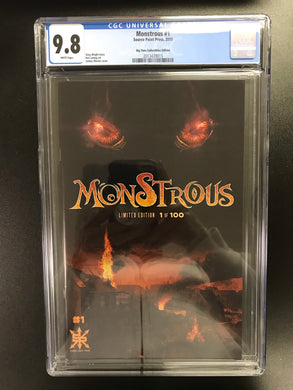 MONSTROUS #1 BTC EXCLUSIVE LIMITED TO 100 CGC 9.8