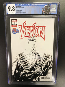VENOM #3 FIRST OF KNULL SDCC 2018 VARIANT CGC 9.8 W/VENOM CUSTOM LABEL
