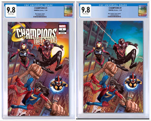 CHAMPIONS #1 MICO SUAYAN EXCLUSIVE VARIANT CGC 9.8 OPTIONS