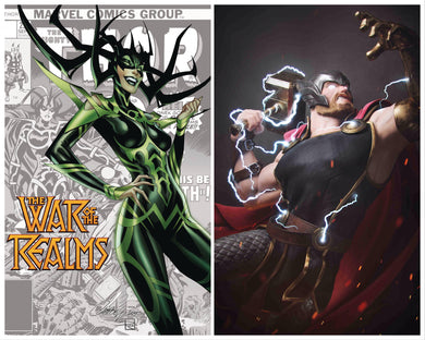 WAR OF REALMS #1 VICTOR HUGO 1:25 + FREE J SCOTT CAMPBELL VARIANT 04/03/19 FOC 03/04/09