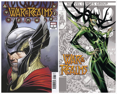 WAR OF REALMS #1 JOE QUESADA 1:50 + FREE J SCOTT CAMPBELL VARIANT 04/03/19 FOC 03/04/09