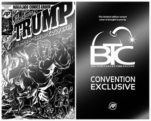 TREMENDOUS TRUMP MAN CHILD COVFEFE ONE SHOT BTC BLACK FOIL CONVENTION EXCLUSIVE LTD TO 200 COPIES