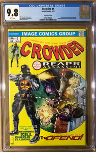 CROWDED #1 ALAN QUAH EXCLUSIVE HOMAGE CGC 9.8 BLUE LABEL