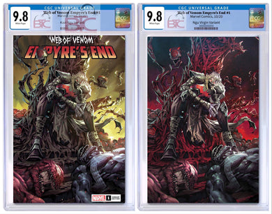 WEB OF VENOM EMPYRES END #1 KAEL NGU EXCLUSIVE VARIANTS CGC OPTIONS