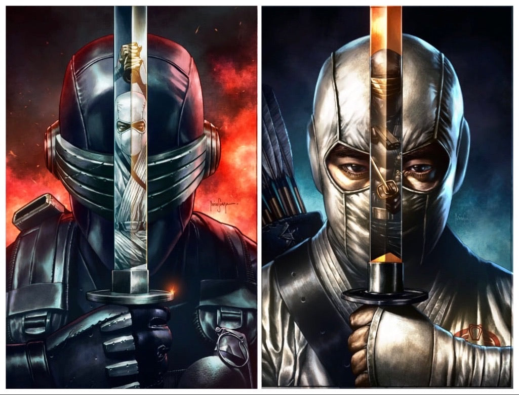 SNAKE EYES DEADGAME #1 AND #2 MICO SUAYAN EXCLUSIVE REFLECTION VARIANT SET 08/26/20