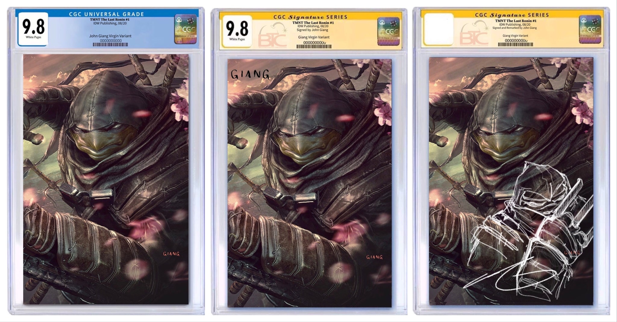 Tmnt The Last Ronin 1 John Giang Exclusive Virgin Variant Cgc 9 8 Big Time Collectibles