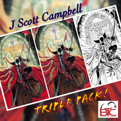 SPAWN #300 J SCOTT CAMPBELL BTC 3-PACK 09/04/19 FOC 08/12/19