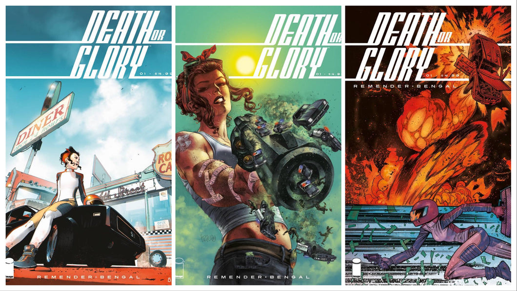 DEATH OR GLORY #1 3-PACK CVR A, B & C  NEW IMAGE SERIES 15% OFF FOC 04/09 (ADVANCE ORDER)