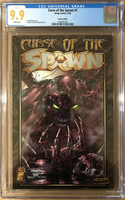 CURSE OF THE SPAWN #1 GERMAN EDITION CGC 9.9 THE ONLY ONE IN CGC REGISTRY