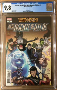WAR OF REALMS NEW AGENTS OF ATLAS #1 CGC 9.8