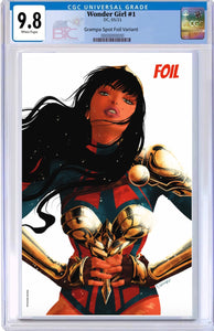 WONDER GIRL #1 EXCLUSIVE TEAM CVR RAFAEL GRAMPA SPOT FOIL CARD STOCK VARIANT CGC 9.8 05/19/21