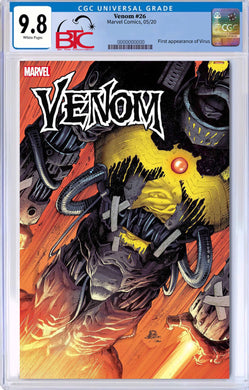 VENOM #26 FIRST APPEARANCE OF VIRUS CGC 9.8 W/FREE NM RAW COPY