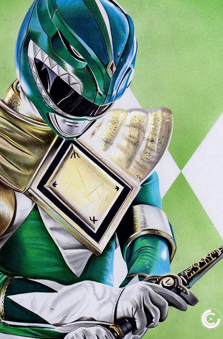 MIGHTY MORPHIN POWER RANGERS #50 CHRIS CLARKE EXCLUSIVE VIRGIN VARIANT
