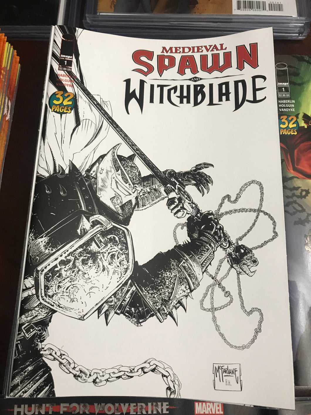 MEDIEVAL SPAWN WITCHBLADE #1 (OF 4) CVR C B&W MCFARLANE  RELEASE DATE 05/09