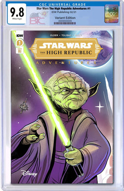 STAR WARS HIGH REPUBLIC ADVENTURES #1 1:10 VARIANT CGC 9.8 WITH FREE RAW COVER A