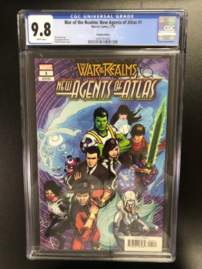 WAR OF REALMS NEW AGENTS OF ATLAS #1 ZIRCHER 1:50 VARIANT CGC 9.8