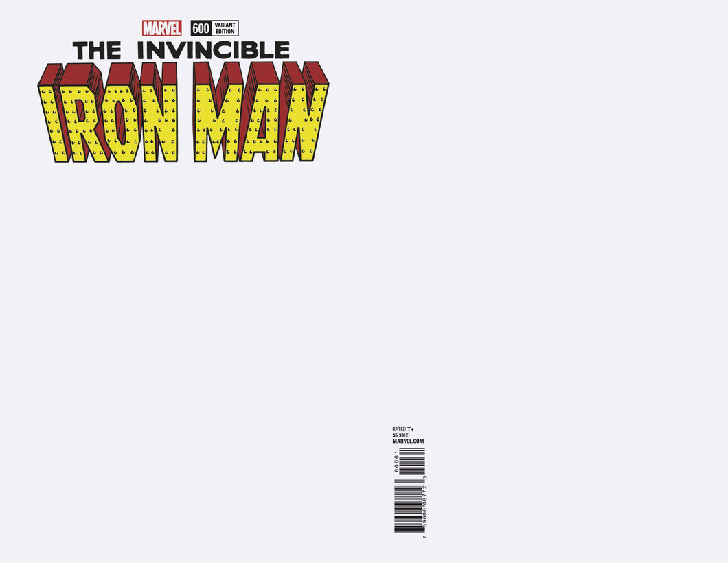 INVINCIBLE IRON MAN #600 BLANK VARIANT FOC 04/30 (ADVANCE ORDER)