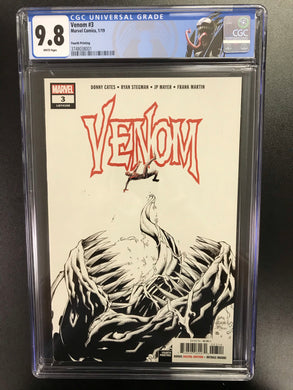 VENOM #3 FIRST OF KNULL CGC 9.8 W/VENOM CUSTOM LABEL