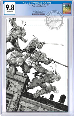 TMNT #106 BTC / KAEL NGU SKETCH COVER SERIES ONE CGC OPTIONS