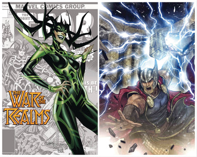 WAR OF REALMS #1 SANA TAKEDA 1:50 + FREE J SCOTT CAMPBELL VARIANT 04/03/19 FOC 03/04/09