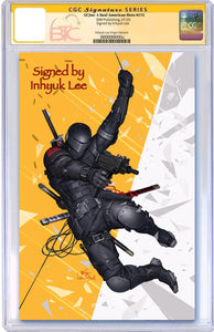 GI JOE A REAL AMERICAN HERO #275  BTC EXCLUSIVE VIRGIN VARIANT CGC 9.6 OR HIGHER SIGNED BY INHYUK LEE