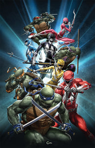POWER RANGERS TMNT #1 CLAYTON CRAIN EXCLUSIVE VIRGIN VARIANT COVER