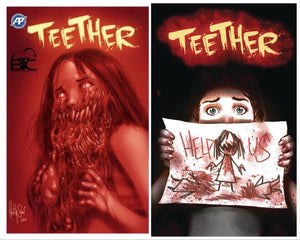 TEETHER #1 BTC EXCLUSIVE LTD TO 300 COPIES & #2 REGULAR COVER COMBO PACK 07/25